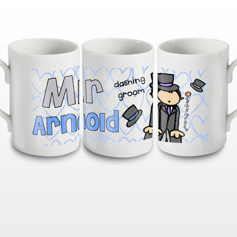 Personalised Bang on the Door Wedding Groom Mug Gift