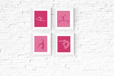 Gymnastics Art Printables Pink Set of 4