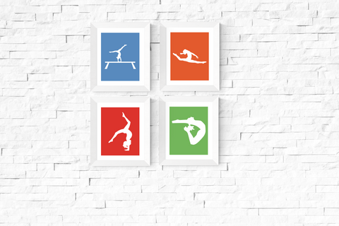 Gymnastics Wall Art Printables Set of 4