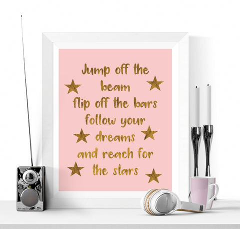 Gymnastics Quote Art Printable