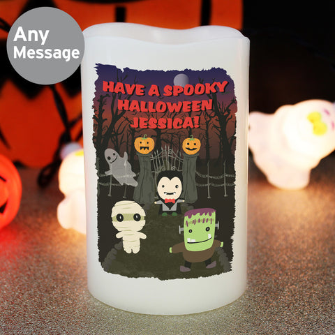 Personalised Halloween Candle LED