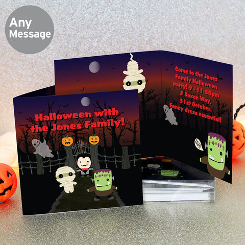 Personalised Halloween Invitations 20PK