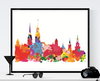 Hamburg Skyline Art Printable