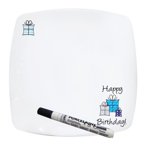 Happy Birthday Message Plate