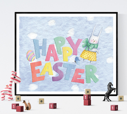 Happy Easter Decoration Printable