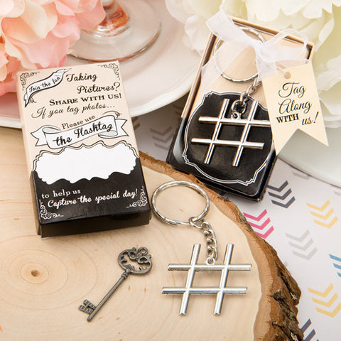 Hashtag Key Ring Favour 6PK