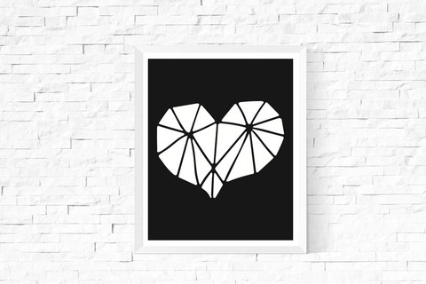 Geometric Heart Art Printable
