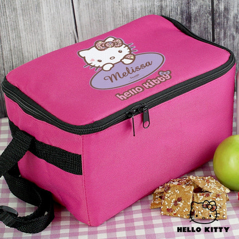 Personalised Hello Kitty Sweetheart Leopard Lunch Bag