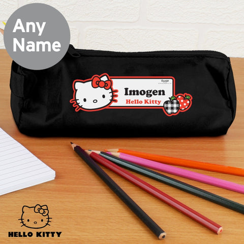 Personalised Hello Kitty Red Apple Pencil Case
