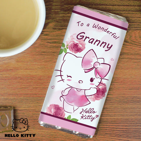Personalised Hello Kitty Pink Blush Chocolate Bar