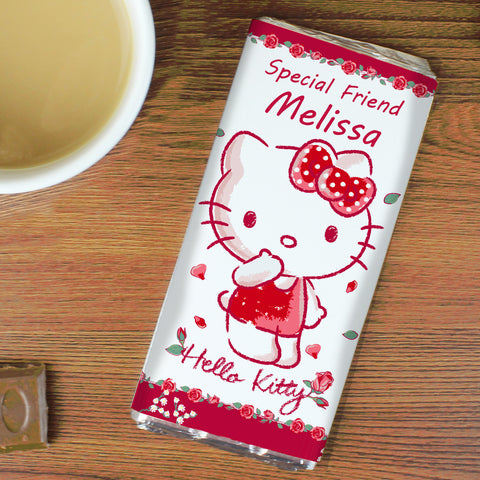 Personalised Hello Kitty Cherry Rose Chocolate Bar