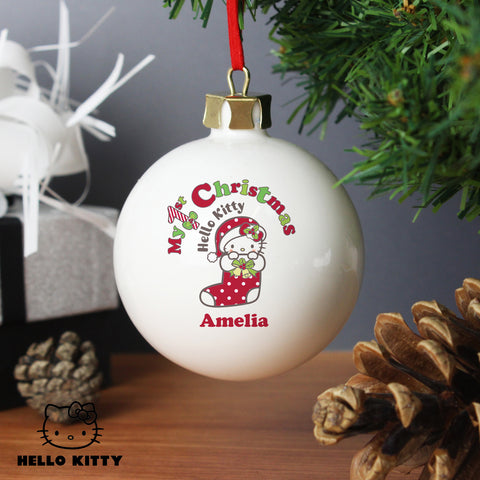 Hello Kitty My 1st Christmas Bauble