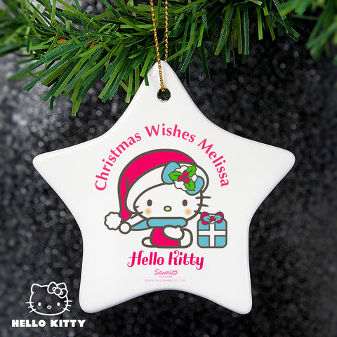 Personalised Hello Kitty Star Christmas Decoration