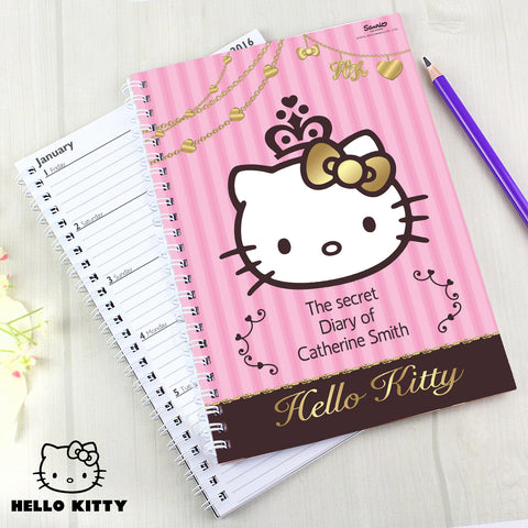 Personalised Hello Kitty Chic Diary