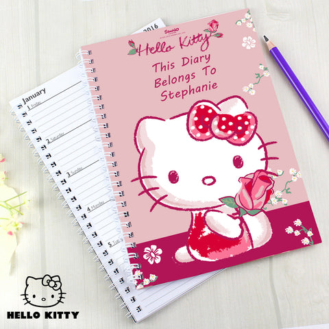 Personalised Hello Kitty Cherry Rose Diary