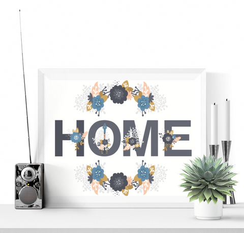 Floral Home Wall Art Printable