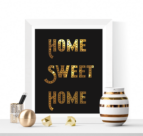 Home Sweet Home Printable Gold