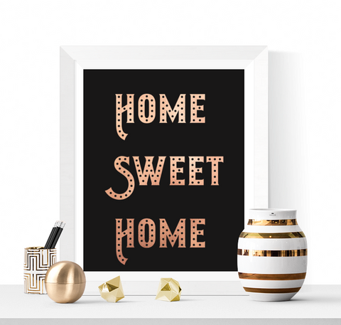 Home Sweet Home Printable Rose Gold