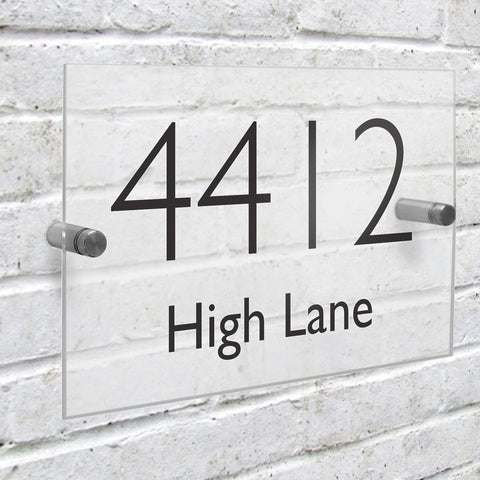 Personalised Modern House Number Sign