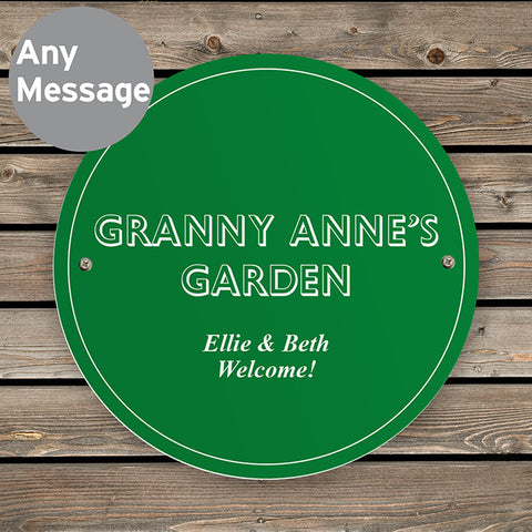 Personalised Green Garden or House Sign