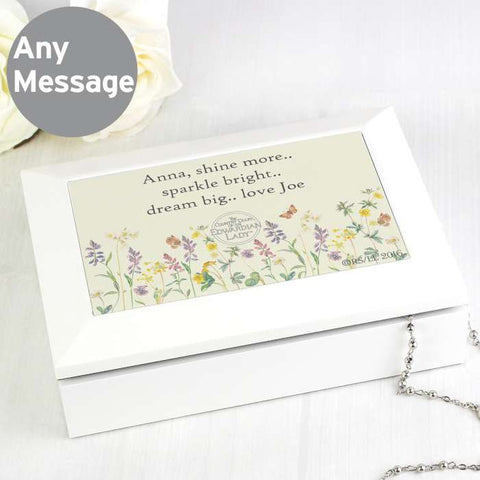 Personalised Country Diary Wooden Jewellery Box