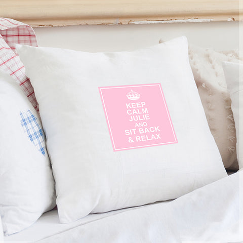Personalised Keep Calm Cushion Cover