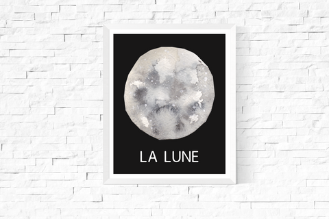 La Lune Art Printable