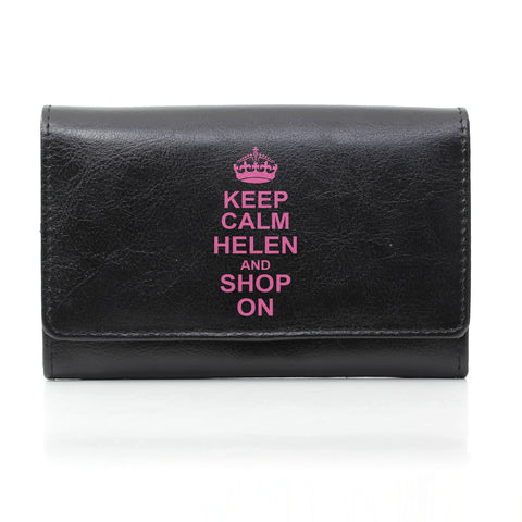 Personalised Black Keep Calm Purse Gift