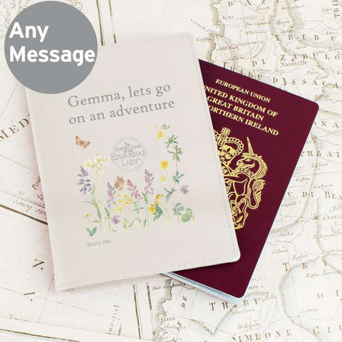 Personalised Country Diary Passport Holder