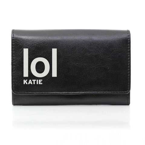 Personalised Black LOL Slogan Purse Gift