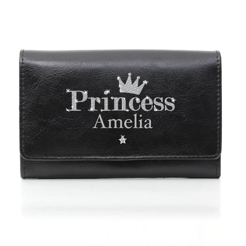 Personalised Black Princess Purse Gift