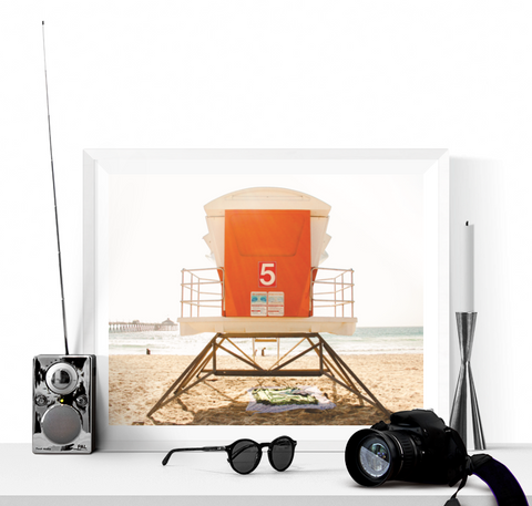 Orange Beach Lifeguard Hut Photograph Printable