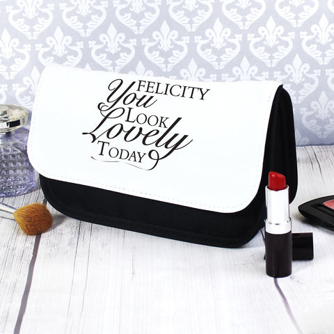 Personalised Look Lovely Makeup Bag