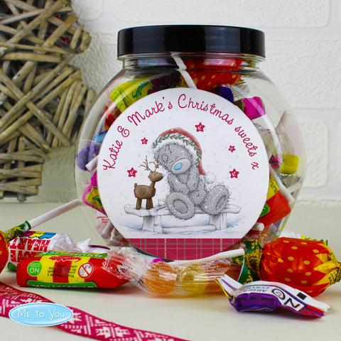 Personalised Me to You Reindeer Christmas Sweet Jar