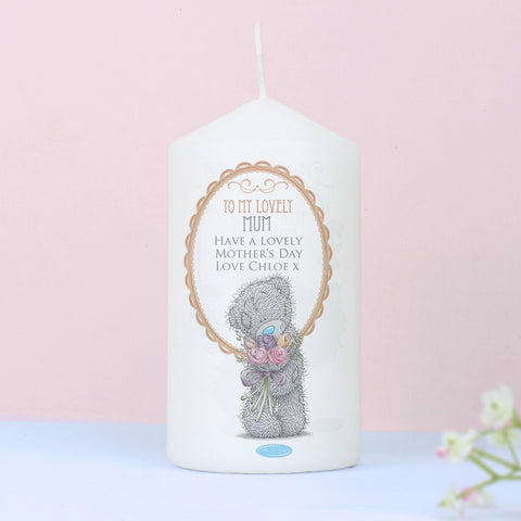 Personalised Me to You Flowers Candle