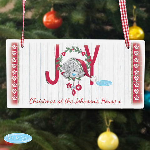 Personalised Me to You Joy Christmas Sign