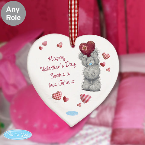 Personalised Me to You Heart Decoration