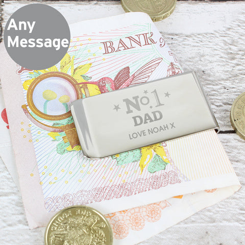 Personalised No.1 Money Clip