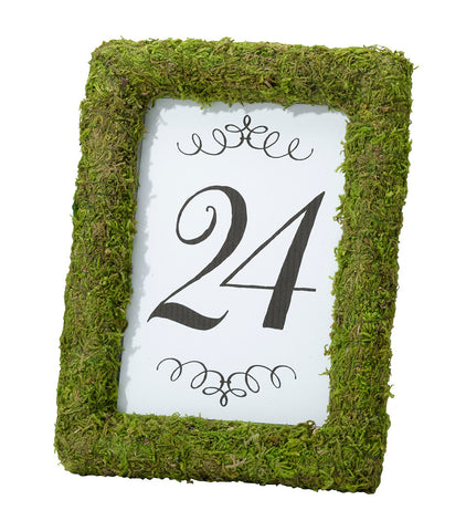 Moss Table Number Frame