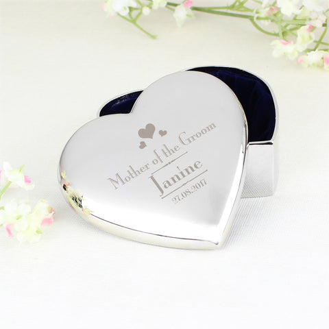 Personalised Decorative Wedding Mother of the Groom Heart Trinket Gift