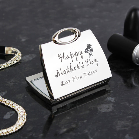 Personalised Happy Mother's Day Compact Mirror Gift