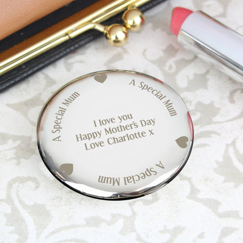 Personalised Mum Compact Mirror Gift