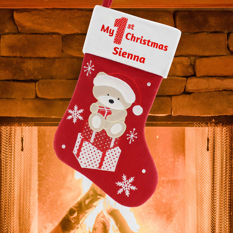 Personalised My 1st Christmas Stocking