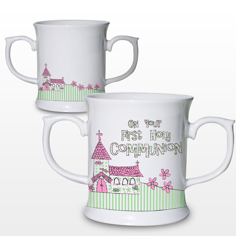 Pink First Holy Communion Church Loving Mug Gift