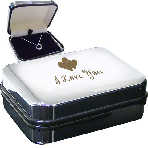 I Love You Heart Necklace Box Gift
