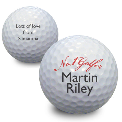 Personalised No1 Golfer Golf Ball Gift