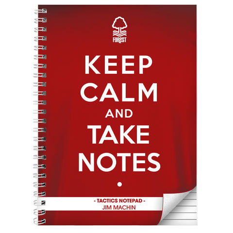 Personalised Nottingham Forest Keep Calm A4 Notebook Gift