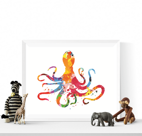 Colourful Octopus Art Printable