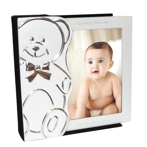 Personalised Teddy Baby Album Gift