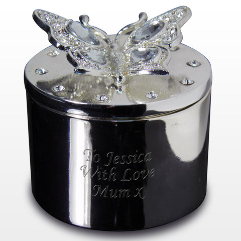 Personalised Butterfly Trinket Gift